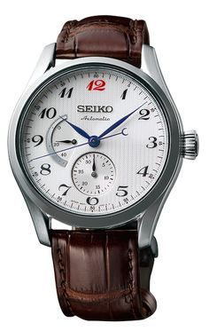 Seiko Presage, automatic, with power reserve indicator.