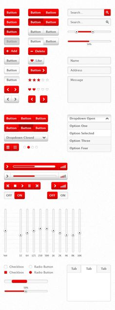 User Interface RED – Free PSD