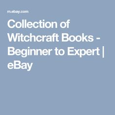 Collection of Witchcraft Books - Beginner to Expert  | eBay