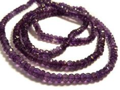 B349 Amethyst Faceted Rondelle Beads
