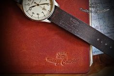 """Notebooks Cover and Zulu Army Watch Strap. Handcraft by """"SONIUM LEATHER"""" Design for Generations. SONIUM LEATHER Proudly handmade in Portugal Connecting Generations"""