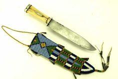 Southern Cheyenne Beaded Sheath and Knife
