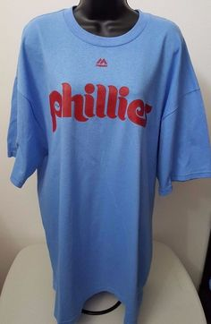 Majestic NWT Mens Blue/Red Philadelphia Phillies Cole Hamels #35 T-Shirt Size 2X #Majestic #PhiladelphiaPhillies