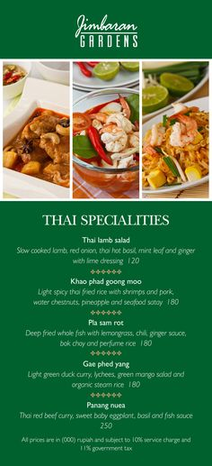 #IHGFoodie #CulinaryDelight #JimbaranGardens Thai cuisine is one of the robust and flavorsome of all Asian cuisines. A true delight of senses, traditional Thai cuisine is characterized by its blend of hot, sour, sweet and salty flavors and its abundant use of fresh vegetables, grains, fruits, nuts, and fish.   Try our Thai Delight at Jimbaran Gardens. Book your table: +62 361 701888 ext 7555, email: dine@icbali.com