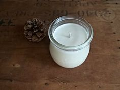 unscented soy candle + tulip weck jar
