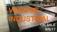 Sale on an I Beam table with a gorgeous walnut top. Built by Vintage Industrial in Phoenix...