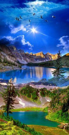 Beautiful Nature Pictures, Beautiful Nature Scenes, Nature Photos, Amazing Nature, Beautiful Places, Nature Nature, Beautiful Sunrise, Image Nature, Amazing Sunsets