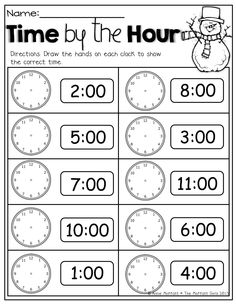 free winter printables for telling time math classroom teaching math. Black Bedroom Furniture Sets. Home Design Ideas