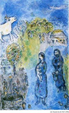 Peasants by the well, 1981, Marc Chagall