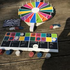 Party mit Spiele Flat Spin Preis Rad mit 2 komplette Spiele More