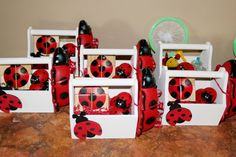 PARTY FAVORS, I WOULD USE THE DOLLAR STORE BUG CATCHER THINGS AND THE BUG HOUSE TO PUT PARTY THINGS INSIDE OF.