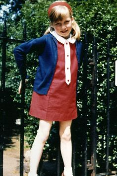 JULY 1968 – Lady Diana Spencer was born in 1961 to in Norfolk, England, to John Spencer, Viscount Althorp, and Frances Spencer. This photograph of her in a nautical ensemble was taken on her seventh birthday in Cadogan Place Gardens.