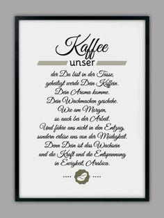 """Originaldruck - """"KAFFEE UNSER"""" Kunstdruck - ein Designerstück von Smart-Art-Kunstdrucke bei DaWanda"""