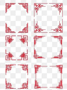 Chinese Style Creative Pattern Classical Border Element PNG and Vector Chinese Design, Chinese Style, Chinese Art, Border Design, Pattern Design, Iphone Wallpaper Vsco, Golden Pattern, Vintage Borders, Chinese Patterns