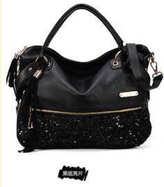 2015 new women's fashion casual leopard print handbag tassel sequins handbag PU Messenger bag JC0095