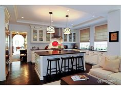 Kitchen Family Room Combo With Subzero Wolf Liances Honed Granite Countertops Lots Of Custom Cabinetry Huge Island
