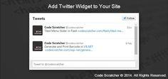 Add Twitter Widget to Your Site