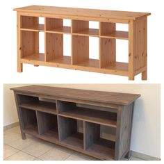 **UPDATED WITH INSTRUCTIONS!!** Before/After - DIY Hemnes Sofa Table IKEA hack