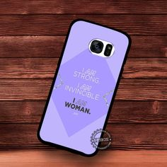 I Am Strong Woman Quote - Samsung Galaxy S7 S6 S5 Note 7 Cases & Covers