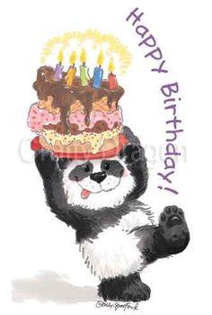 Suzy'S ZOO Mini Sticker Happy Birthday Panda | eBay