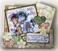 Beau and Bashful from Whimsy Stamps, To Have and To Hold sentiment set