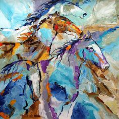 Contemporary Artists of Texas: Summer Winds Horse Paintings by Texas Artist Laurie Pace