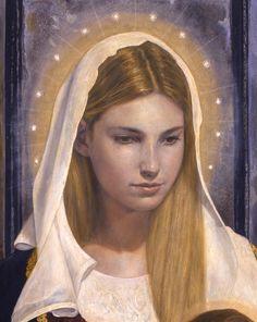 Detail. Virgen renacentista by Aristides Artal