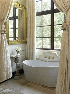 """mylittledreamhome:  """"Stone tub.  """""""