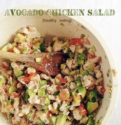 Avocado Chicken Salad | Taking On Magazines | www.takingonmagazines.com | This lightened up Avocado Chicken Salad is packed with flavor and ...