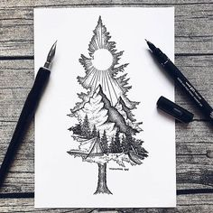Except with birdseye as the mountain ❤ tattoo ideas idei tatuaje, t Sketch Tattoo Design, Tattoo Sketches, Drawing Sketches, Art Drawings, Tattoo Designs, Drawing Ideas, Tattoo Illustrations, Tattoo Drawings Tumblr, Angel Tattoo Drawings