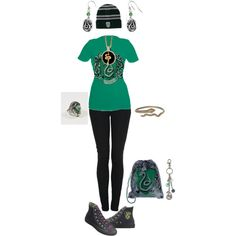 Designer Clothes, Shoes & Bags for Women Harry Potter Dress Up, Harry Potter Style, Harry Potter Outfits, Harry Potter Hogwarts, Harry Potter Memes, Slytherin Pride, Hogwarts Houses, Inspired Outfits, Fantastic Beasts