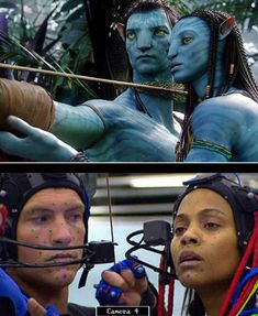 Avatar after and before special effects Famous Movie Scenes, Famous Movies, Davy Jones, Real Movies, Good Movies, Movie Special Effects, Por Tras Das Cameras, Avatar Movie, Movie Makeup