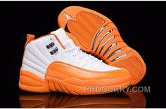 "http://www.procurry.com/2016-air-jordan-12-gs-the-glove-white-orange-for-sale-new.html 2016 AIR JORDAN 12 GS ""THE GLOVE"" WHITE ORANGE FOR SALE NEW Only $89.00 , Free Shipping!"