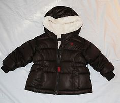 #eBay Girls Size 6-12 Month Old Navy Brown Bubble Winter Coat New w Tags Free Ship Bid $15.99 Ends in 7 mins