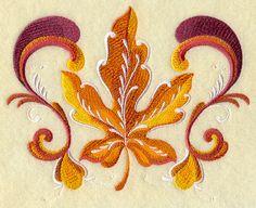 Rosemaling Maple Leaf design (G7007) from www.Emblibrary.com