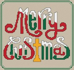 Merry Christmas 2014 free cross stitch pattern