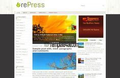 Wordpress Themes - Nature Wordpress Template #wordpress #nature #wordpressthemes