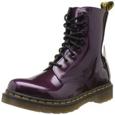 Dr. Martens PASCAL Spectra Patent PURPLE - Botas militares, talla: 37, color: Violeta - Violett (purple)