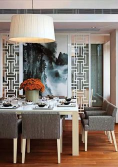 Oriental Chinese Interior Design Asian Inspired Dining Room Home Decor http://www.interactchina.com/home-furnishings/#.VXAff8-qr4Y
