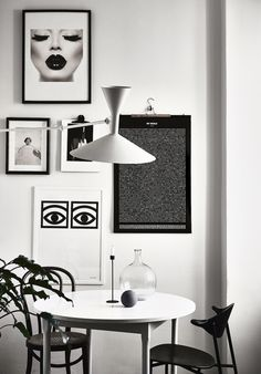 The Monochrome Home of Finnish Interior Designer Laura Seppänen Apartment Interior, Interior Design, Small Apartment Interior, Decor Inspiration, Beautiful Dining Rooms, Monochrome Interior Design, Monochrome Interior, White Decor, Home Decor