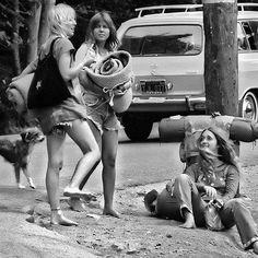 Hitchhiking on Highway 1 in Big Sur, 1971. #hippiestyle #hippielife #hitchhiking #vintagefashion #vintagestyle #70sstyle #70sfashion  #60sstyle #vintagelife #raggedglory #vintageshop #etsyvintage #bigsur #californiagirls #montereylocals - posted by Jodie Hayford https://www.instagram.com/raggedglory. See more of Big Sur at http://bigsurlocals.com