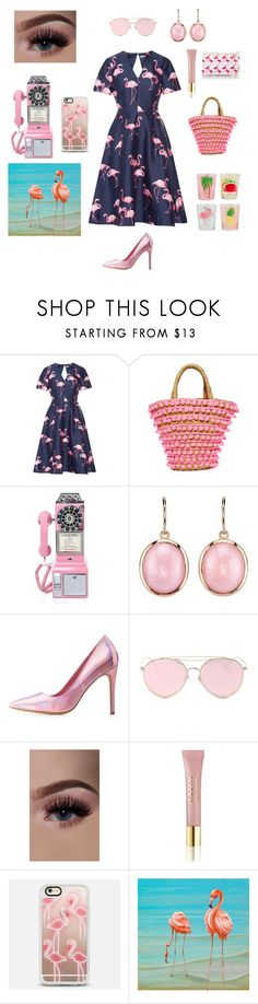 """Untitled #77"" by anyi-love ❤ liked on Polyvore featuring Draper James, Mystique, Irene Neuwirth, Charlotte Russe, LMNT, AERIN and Casetify"