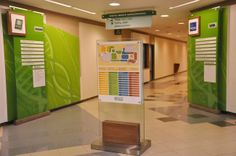 Wayfinding - Signage on the wall, ceiling sign and directory sign -  Rio de Janeiro - Brazil