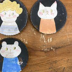 Ceramic Tableware, Ceramic Pottery, Pretty Mugs, Kagoshima, Knick Knack, Japanese Artists, Cat Art, Illustrators, Art Projects