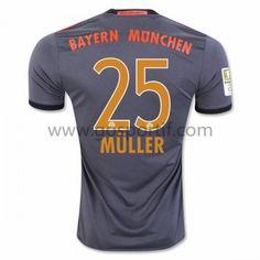 maillot de foot Bundesliga Bayern Munich 2016-17 Muller 25 maillot extérieur 400e4b47c