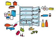 Vorräte richtig lagern und die optimale Kühlschrank-Temperatur einstellen - so wird's gemacht. Unser Kühlschrank-Guide zum Ausdrucken und Aufhängen.