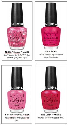 OPI's Vintage Minnie Mouse Collection! It Comes out June 1st! Can't wait!  How fitting, it's Blair's birthday!!!!  MUST HAVE!!!