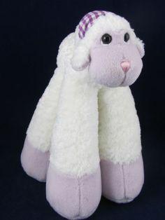 Bestever White Plush Stuffed Lamb Animal Long Legs Lavender Feet EC Beans | eBay