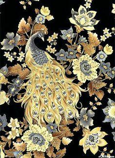 Peacock Images, Peacock Art, Batik Art, Batik Pattern, Art Japonais, Arte Floral, Chinese Art, Chinoiserie, Beautiful Birds