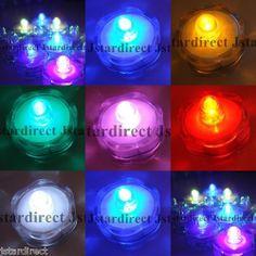 12 LED Submersible Wedding Floral Decoration Tea light Flameless US seller